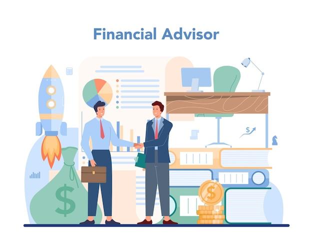 Consultoria de caráter empresarial de operação financeira