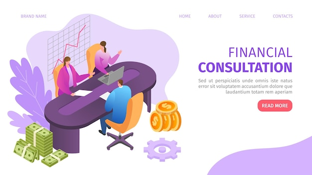 Consultoria de negócios financeiros