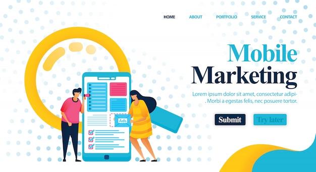 Consultoria em marketing móvel para encontrar melhores palavras-chave.