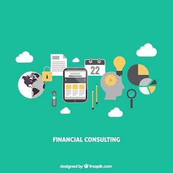 Consultoria financeira infográfico