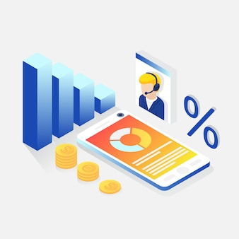 Consultoria financeira isométrica