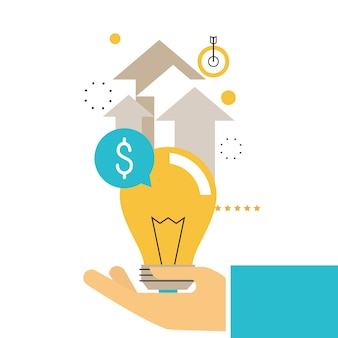 Consultoria financeira, orientação financeira, consultor empresarial, assistência ao investimento, design de ilustração vetorial de gerenciamento de dinheiro para gráficos móveis e web.
