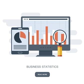 Consultoria para o desempenho da empresa, conceito de análise