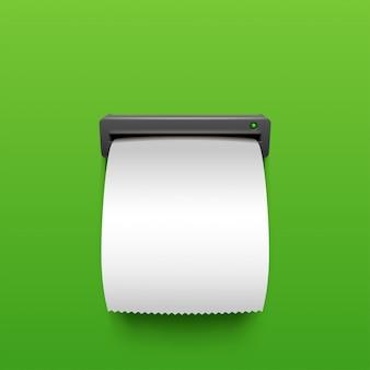 Conta atm em branco no verde