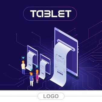 Conta de impressão do tablet