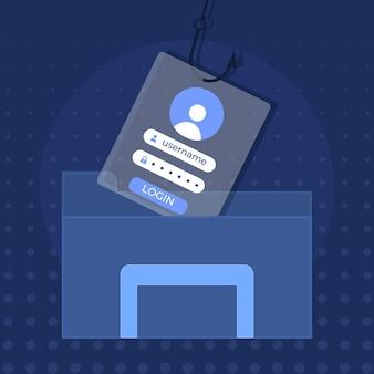 Conta de phishing com informações falsas