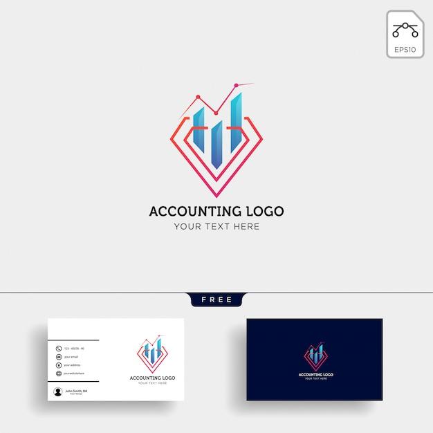 Contabilidade, modelo de logotipo criativo de finanças