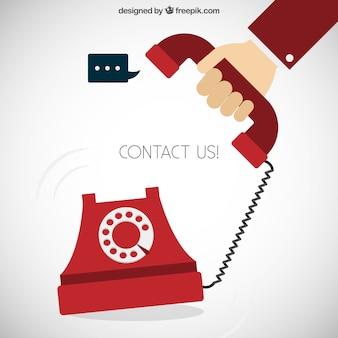 Contacte-nos conceito