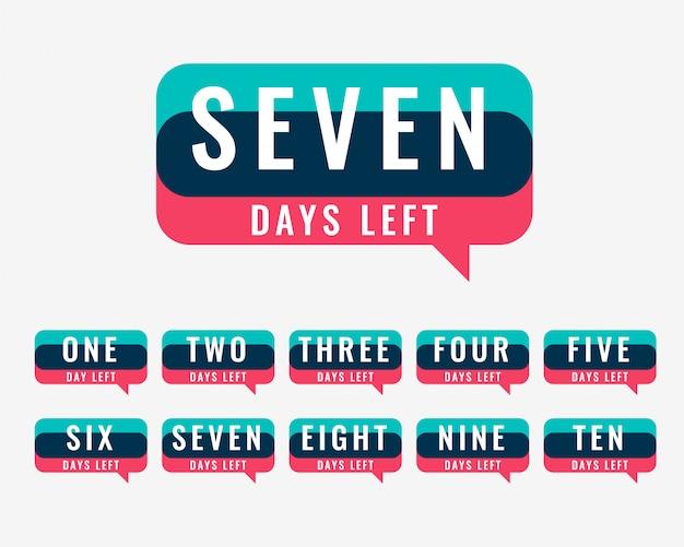 Contador de número de dias para venda e promoção