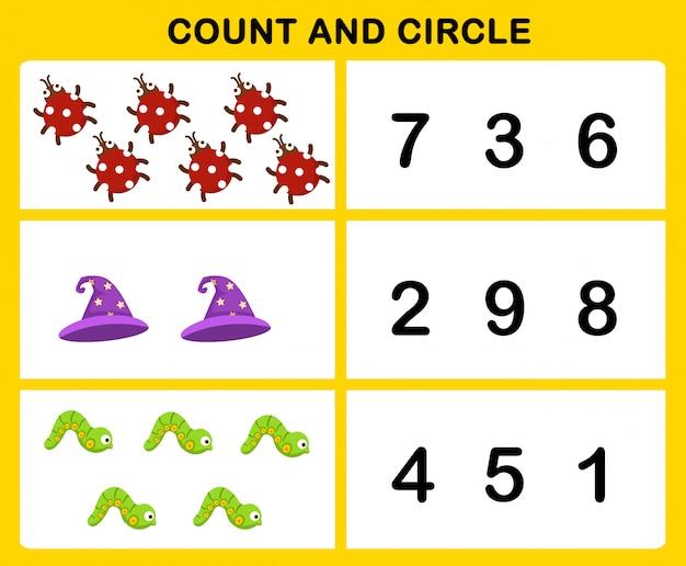 Contagem e ilustração do círculo