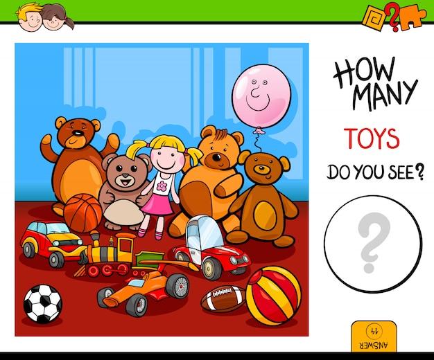 Contando brinquedos jogo educativo para crianças
