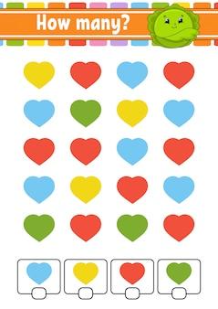 Contando jogo para crianças em idade pré-escolar.