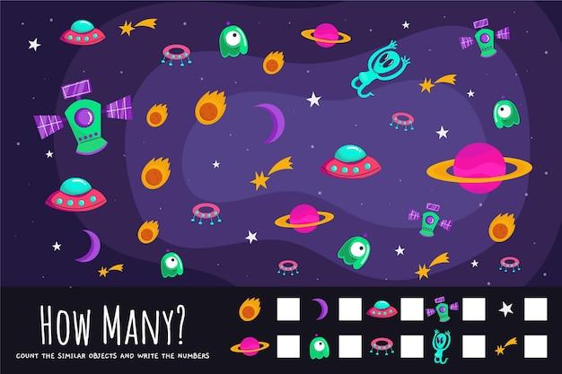 Contando o jogo com elementos do espaço