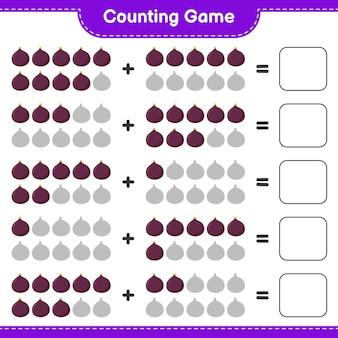 Contando o jogo, conte o número da fig e escreva o resultado.
