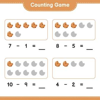 Contando o jogo, conte o número de cookies e escreva o resultado
