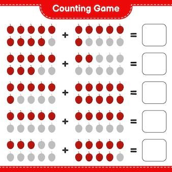 Contando o jogo, conte o número de palmeira ita e escreva o resultado.
