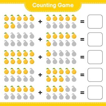 Contando o jogo, conte o número de quince e escreva o resultado.