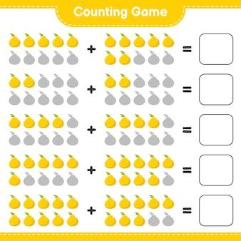Contando o jogo, conte o número de ugli e escreva o resultado.