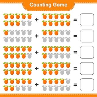 Contando o jogo, conte o número de ximenia e escreva o resultado.
