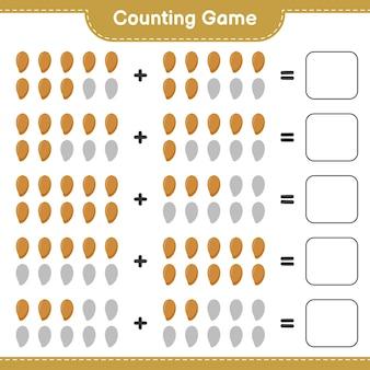 Contando o jogo, conte o número de zapote e escreva o resultado.