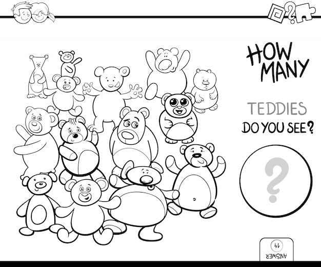 Contando o jogo de ursinhos