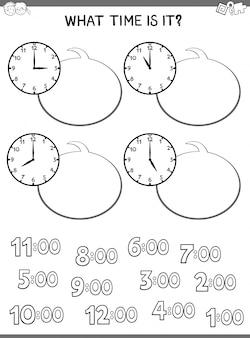 Contando o jogo do relógio para crianças