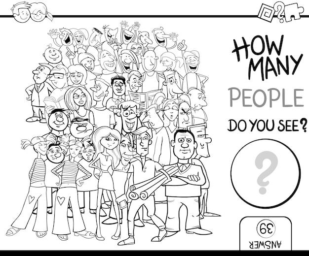 Contando pessoas jogo para colorir