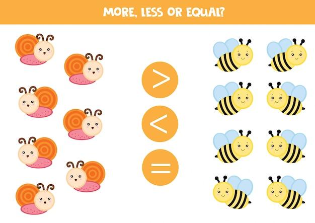 Contar caracóis e abelhas