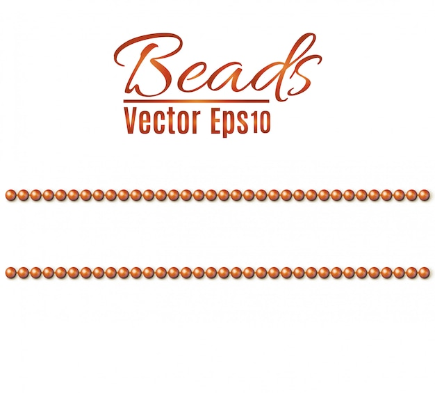 Contas de corda são realistas. elemento decorativo padrão sem emenda