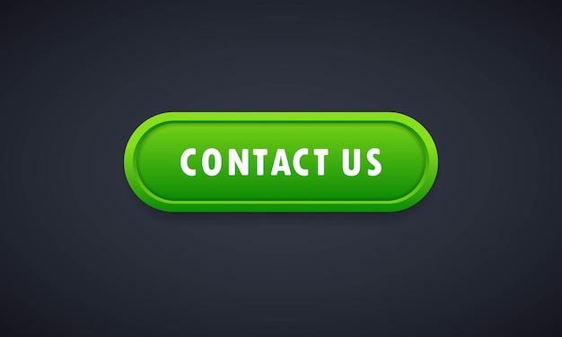 Contate-nos ícone em estilo simples. contate-nos botão realista 3d. símbolo de comunicação para o design de seu site, logotipo, aplicativo, ui vector eps 10.