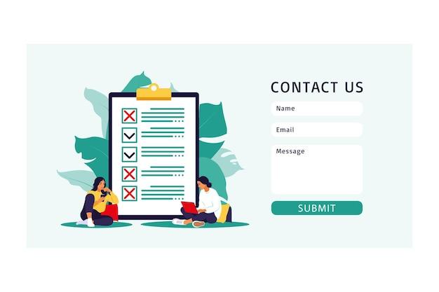 Contate-nos modelo de formulário para web