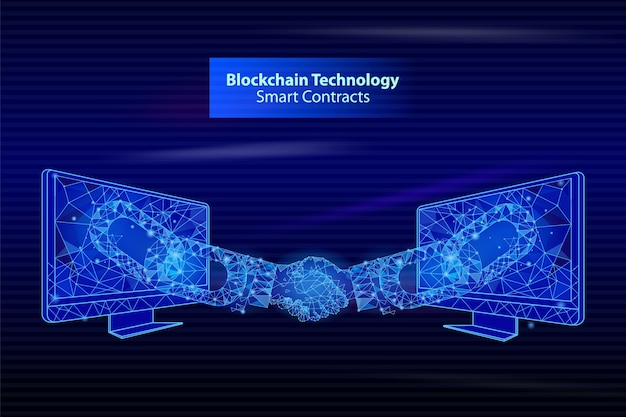 Contatos inteligentes da blockchain technology