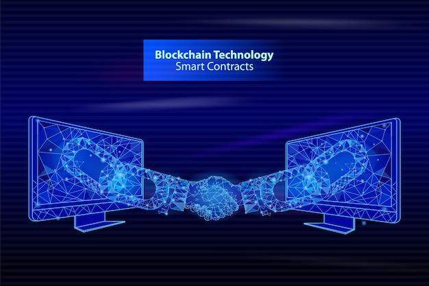 Contatos inteligentes da blockchain technology