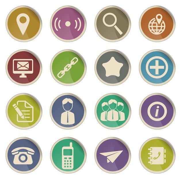 Contatos são simplesmente um símbolo para ícones da web