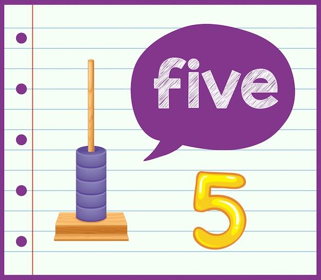 Conte até cinco conceito
