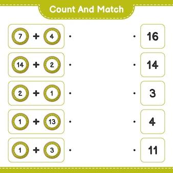 Conte e combine, conte o número de donut e combine com os números certos