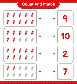 Conte e combine, conte o número de luzes de natal e combine com os números certos. jogo educativo infantil