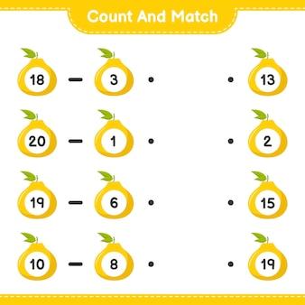Conte e combine, conte o número de ugli e combine com os números certos. jogo educativo para crianças, planilha para impressão