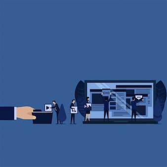Conteúdo de gerenciamento da web de negócios para otimização de mecanismos de pesquisa.