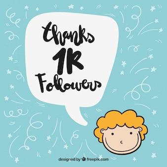 Conteúdo do menino grato por 1k seguidores