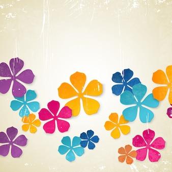 Contexto de flores coloridas