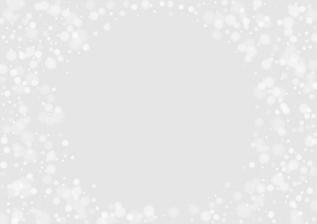 Contexto gráfico do floco cinzento. padrão de neve de vetor