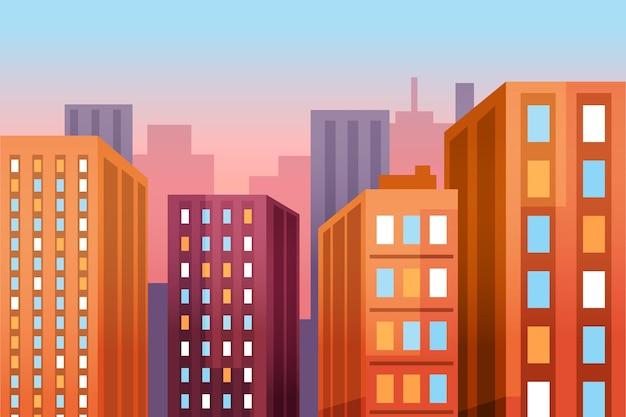 Contexto urbano da cidade para videoconferência
