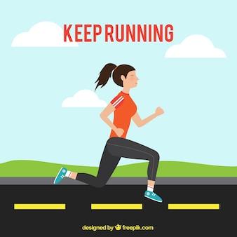Continue correndo fundo