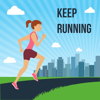 Continue correndo