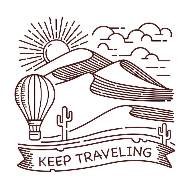 Continue viajando ilustração