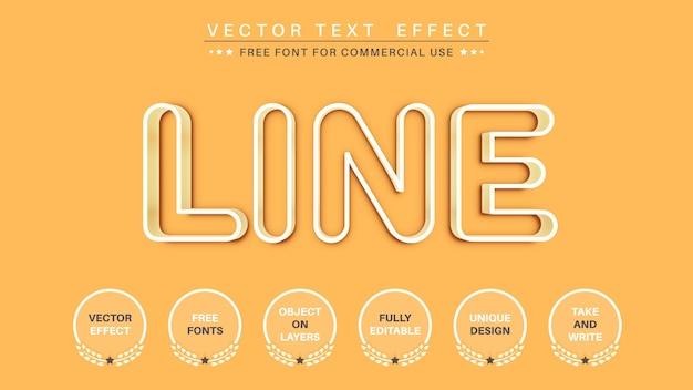 Contorno branco editar estilo de fonte de efeito de texto