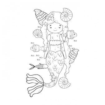 Contos de fadas de sereia bonito
