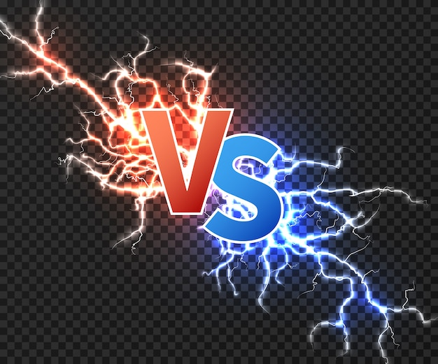 Contra ilustração com colisão de duas descargas elétricas.