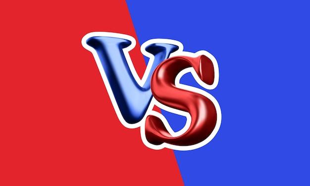 Contra o fundo da batalha. vs manchete de batalha. competições entre lutadores ou equipes. ilustração vetorial